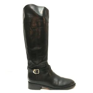 NEW Tory Burch Tall Black Leather Riding Boots